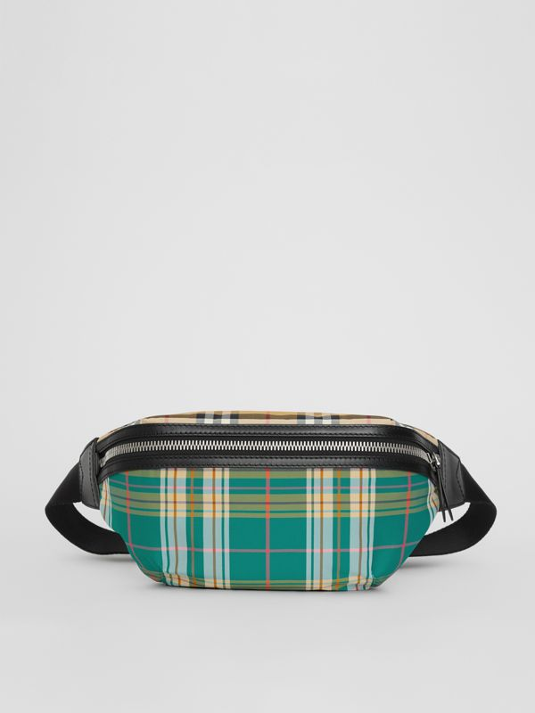 Medium Vintage Check and Tartan Bum Bag in Pine Green | Burberry Australia - cell image 3