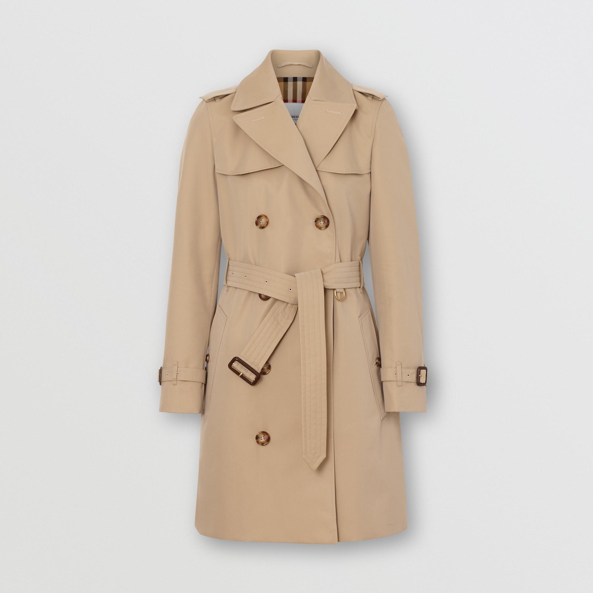 The Short Islington Trench Coat in Honey - Women   Burberry - gallery image 3