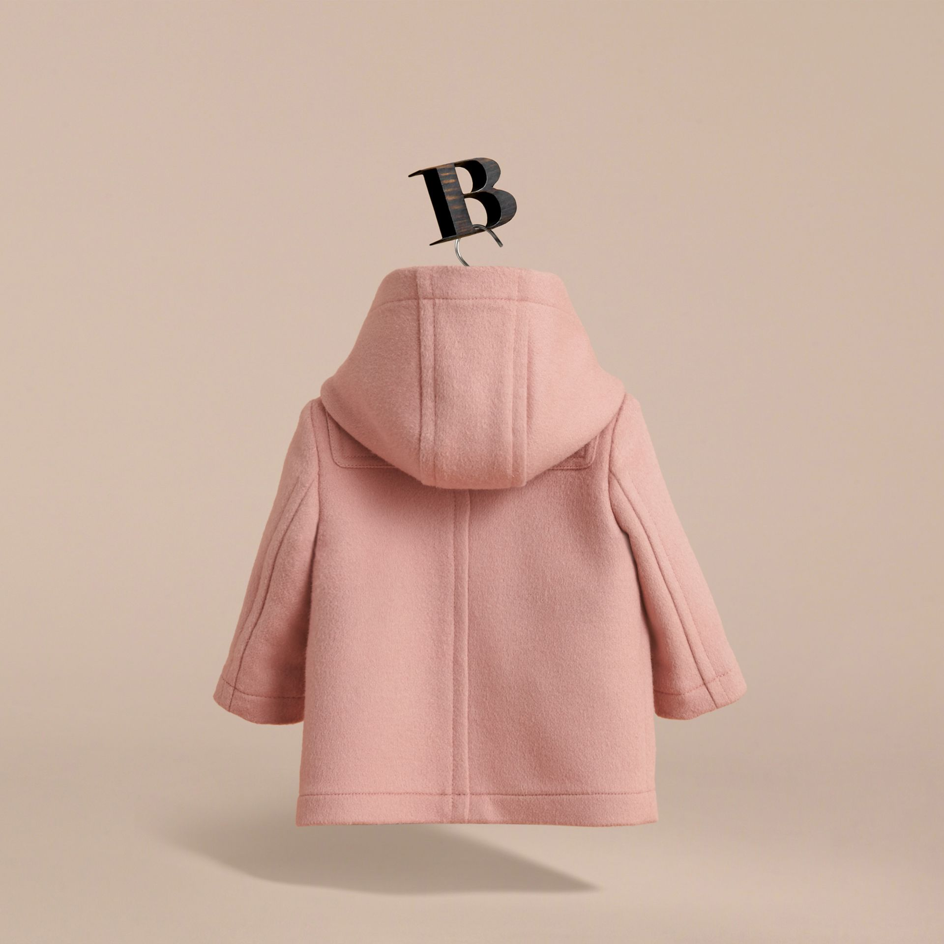 Wool Duffle Coat in Pale Rose | Burberry - gallery image 4