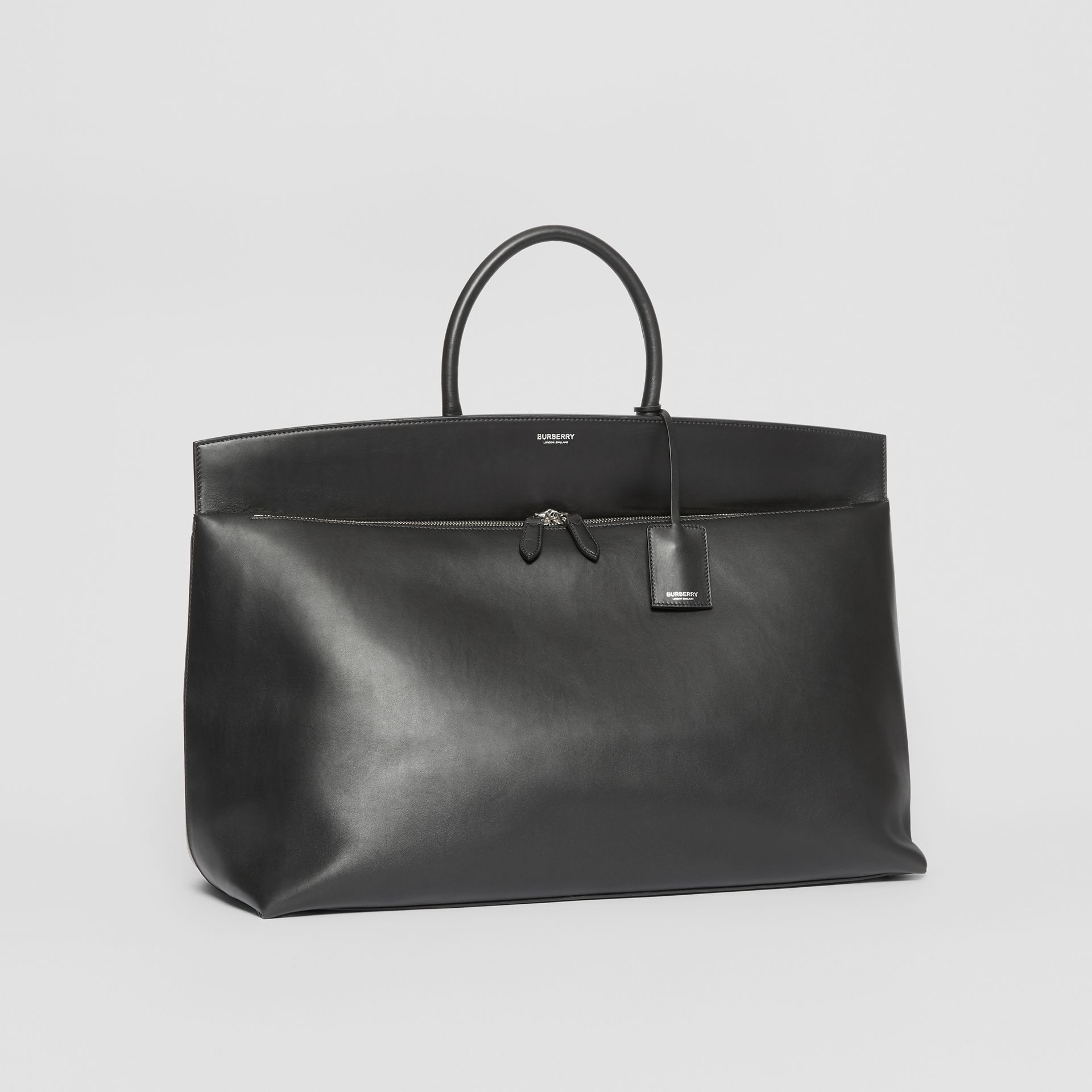 Extra Large Leather Society Top Handle Bag in Black - Men | Burberry - gallery image 4