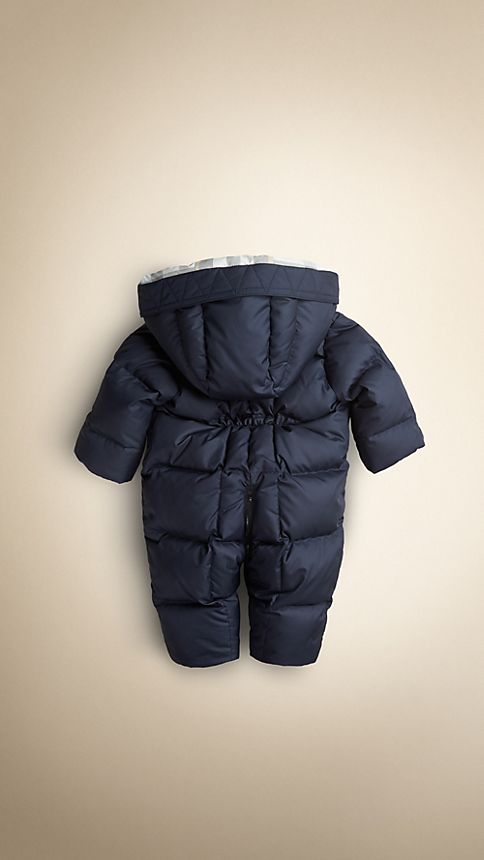 Navy Down-Filled Puffer Suit - Image 2