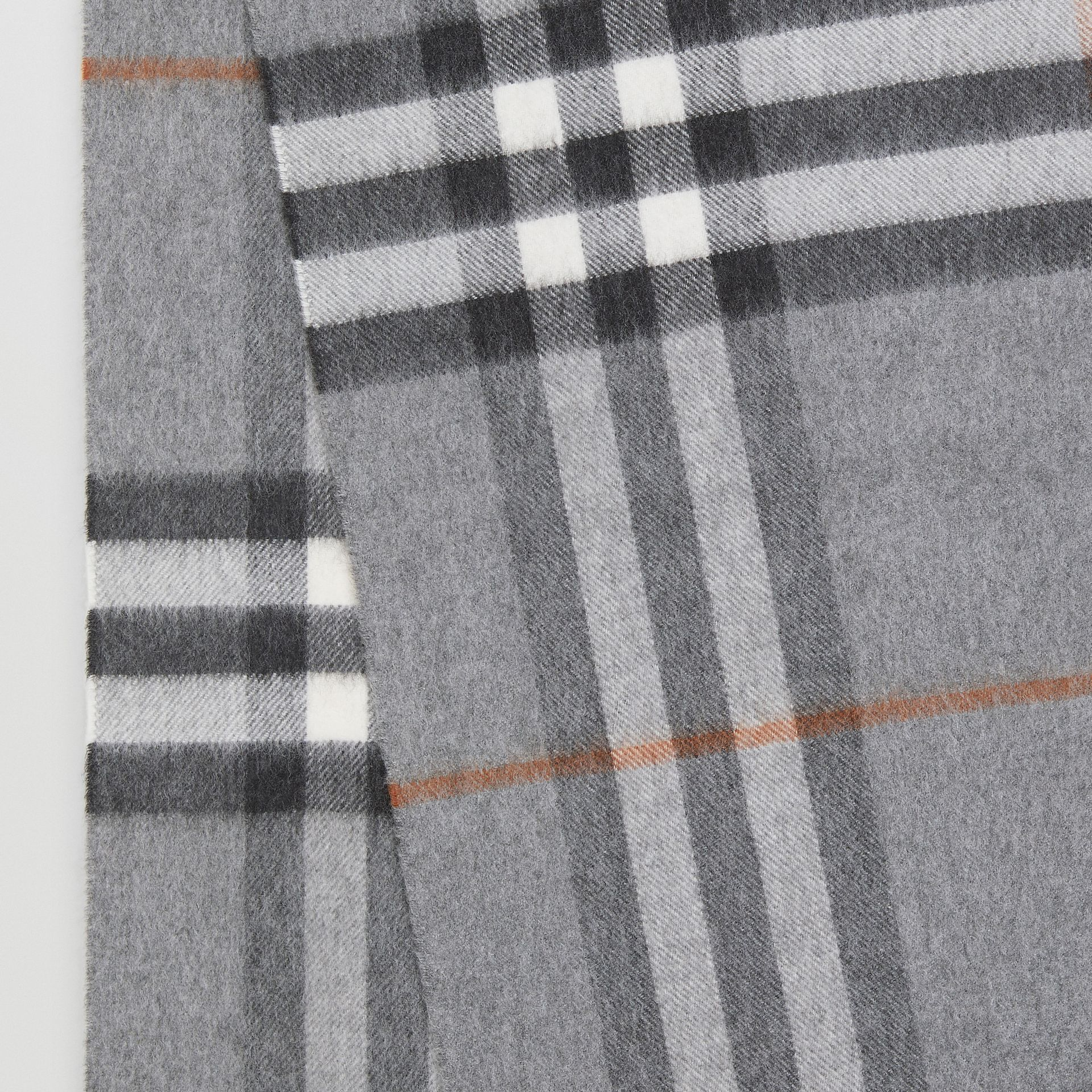 The Classic Check Cashmere Scarf in Grey | Burberry United Kingdom - gallery image 1