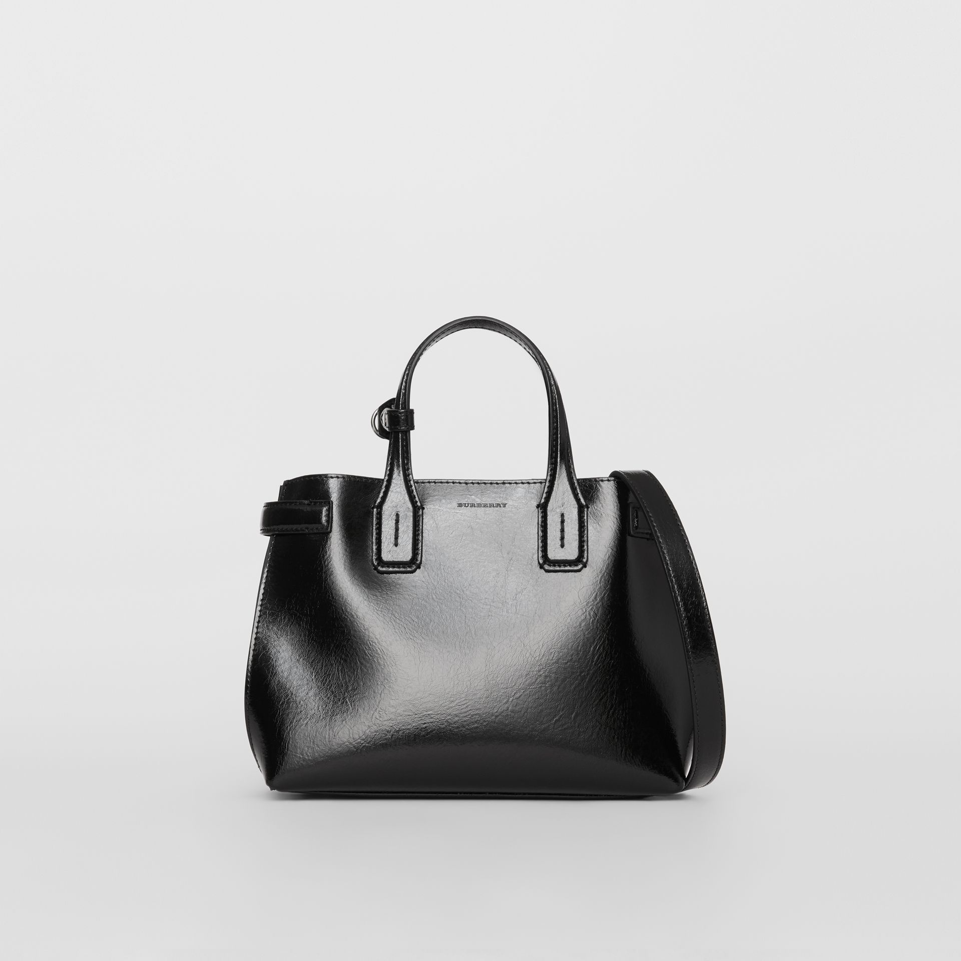 The Small Soft Leather Banner in Black - Women | Burberry - gallery image 6