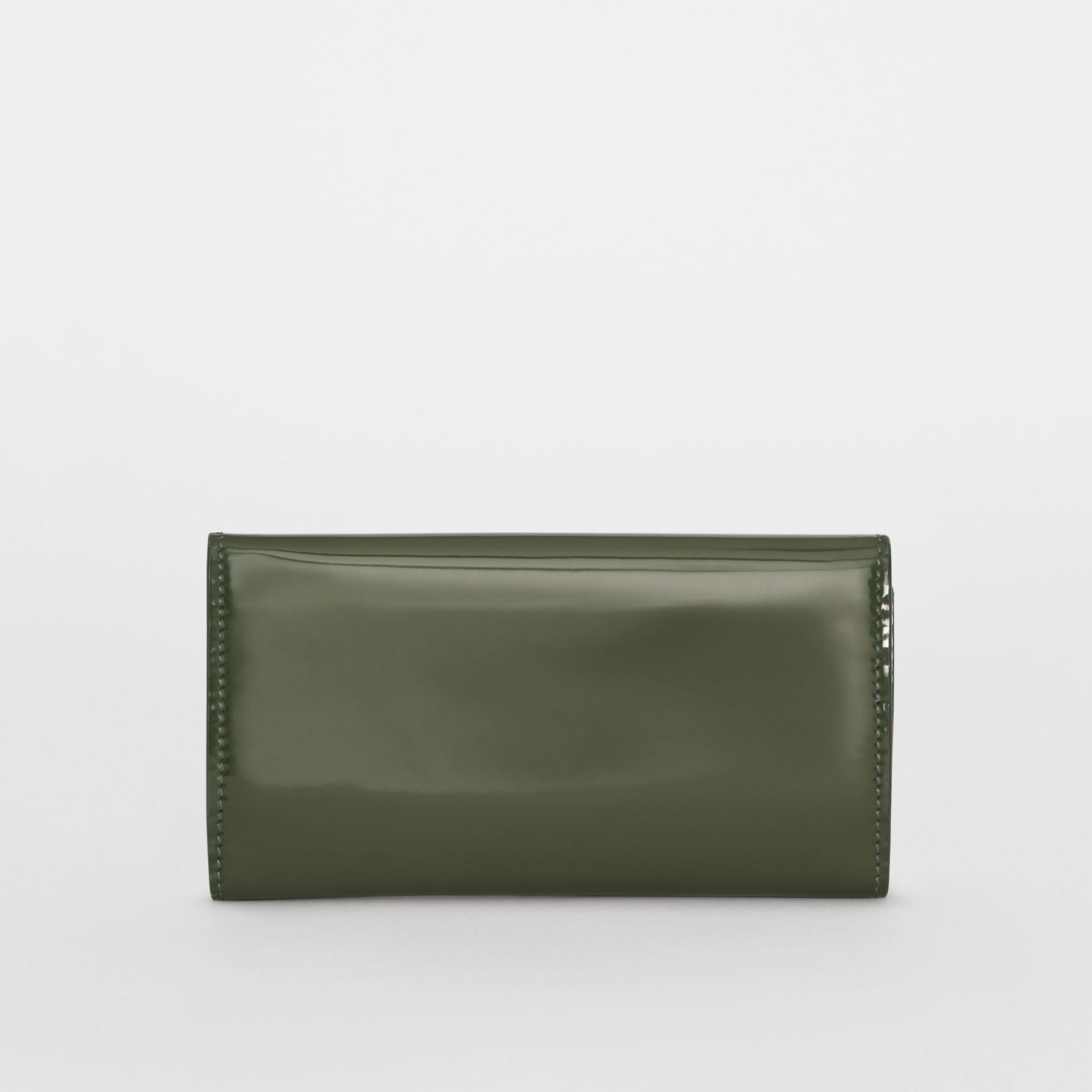 D-ring Patent Leather Continental Wallet in Dark Forest Green - Women | Burberry United States - gallery image 2