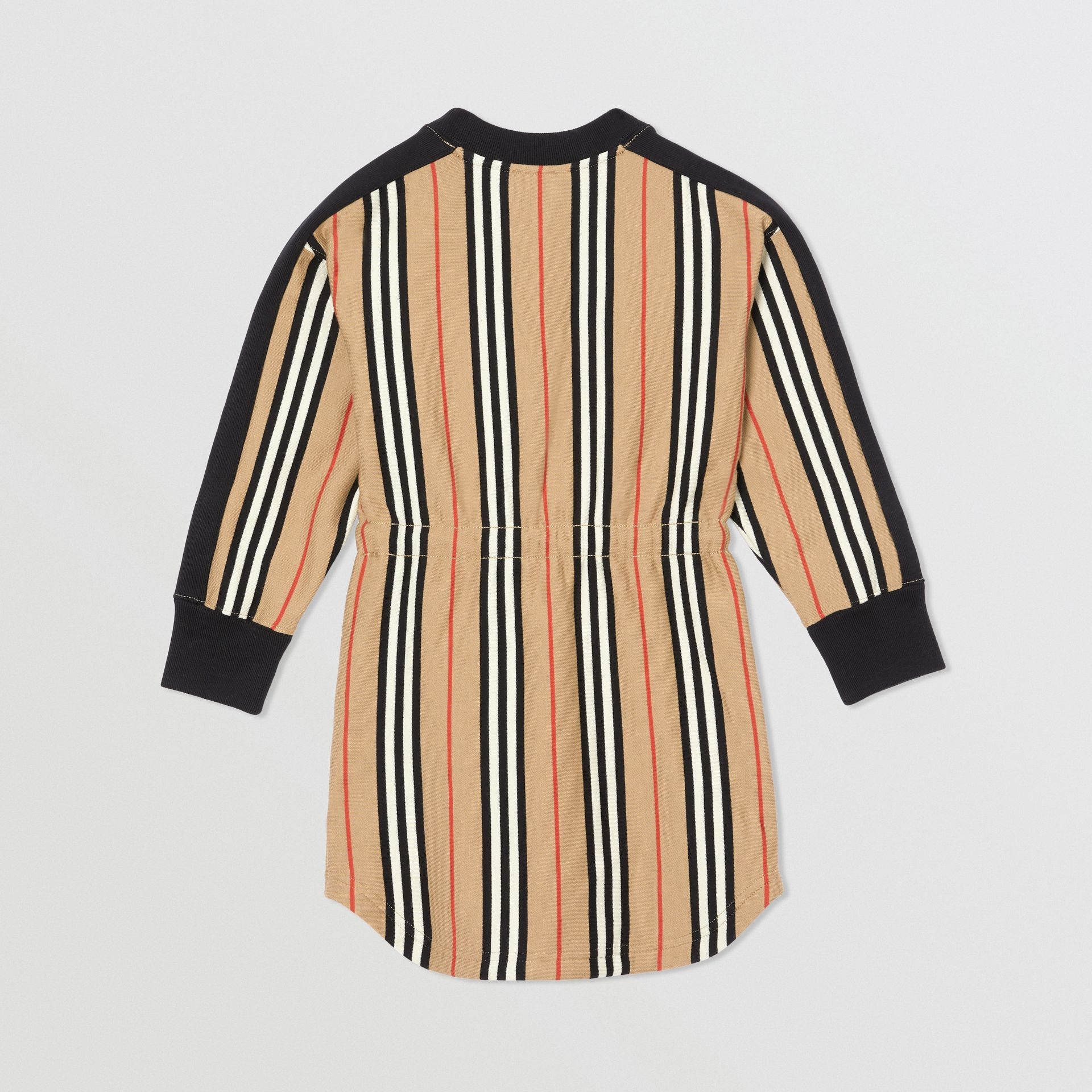 Icon Stripe Cotton Sweater Dress in Archive Beige | Burberry - gallery image 3