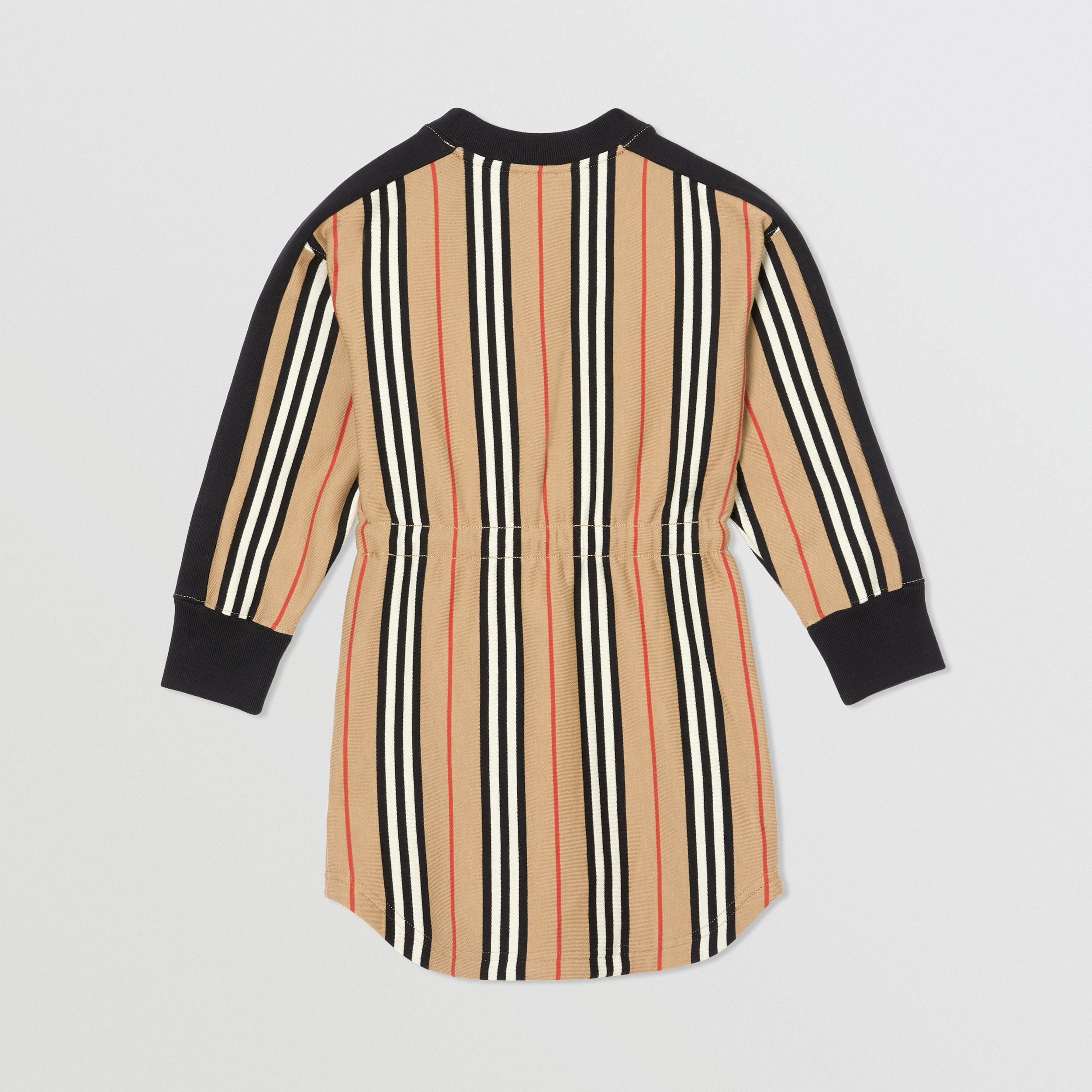 Icon Stripe Cotton Sweater Dress in Archive Beige | Burberry - 4