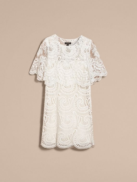 Layered Macramé Lace Shift Dress - Women | Burberry - cell image 3