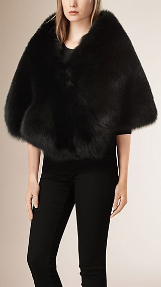 Cashmere Lined Fur Cape