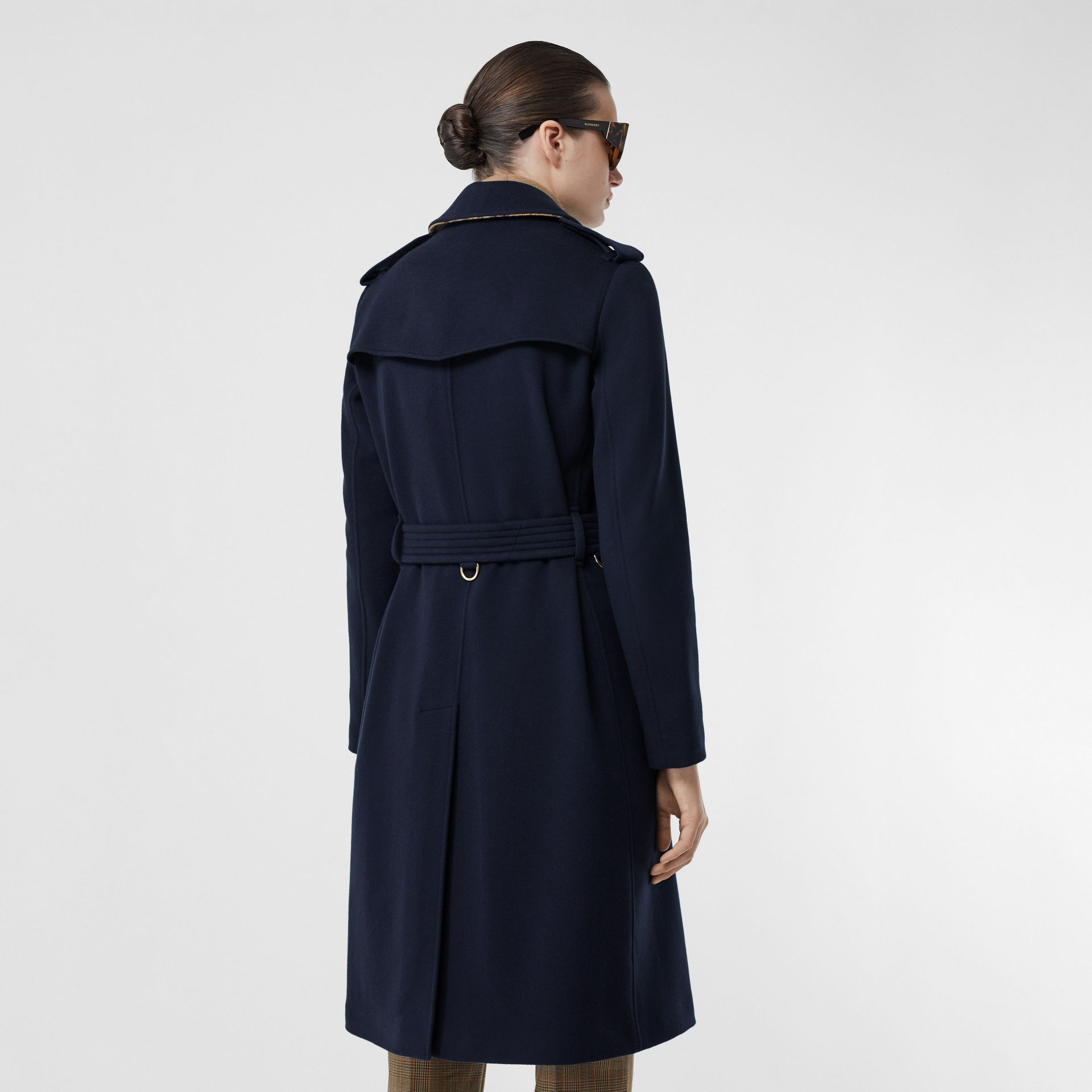 Cashmere Trench Coat in Navy - Women | Burberry - gallery image 2