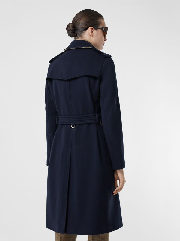 Cashmere Trench Coat in Navy - Women | Burberry - cell image 2