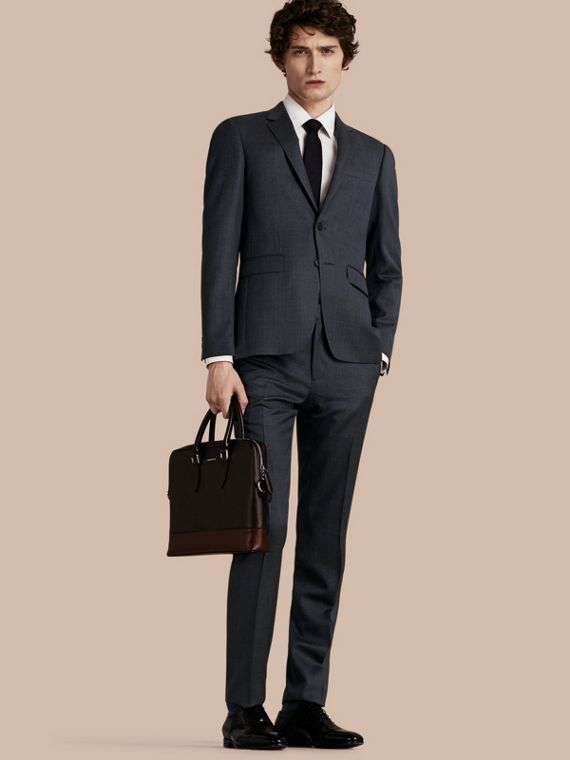 Slim Fit Half-canvas Birdseye Wool Suit