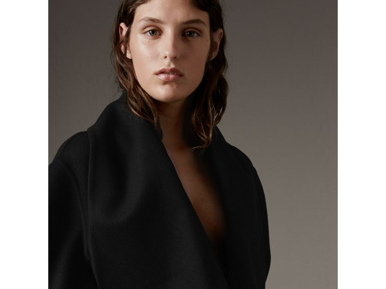 Double-faced Wool Cashmere Sculptural Coat in Black - Women | Burberry - cell image 1
