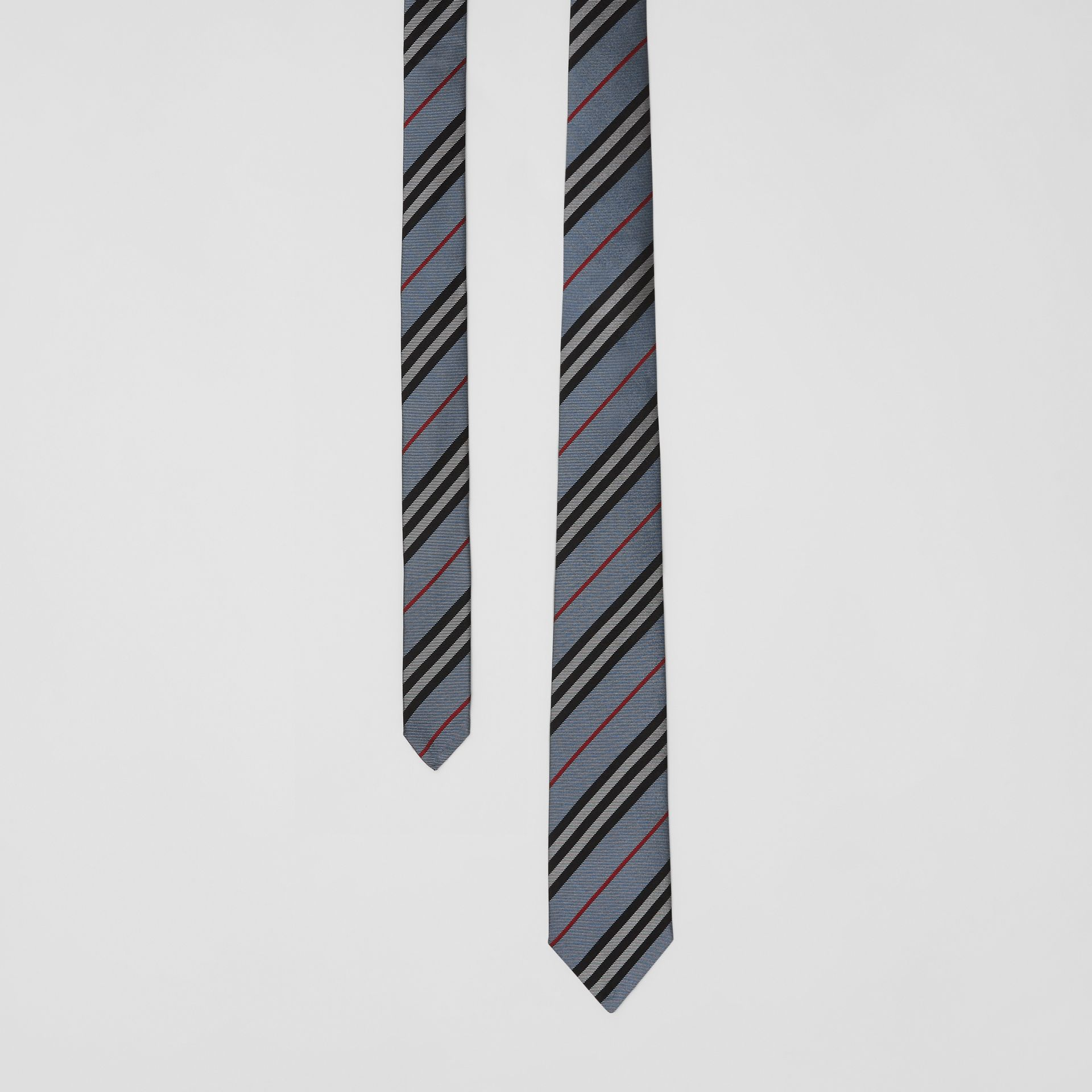 Classic Cut Icon Stripe Silk Tie in Pale Blue - Men | Burberry - gallery image 0