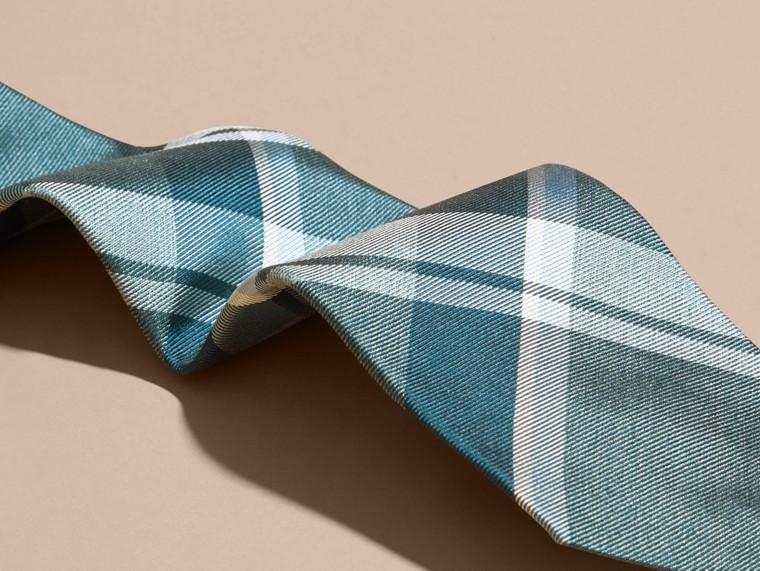 Pale celadon Modern Cut Check Jacquard Silk Tie Pale Celadon - cell image 1