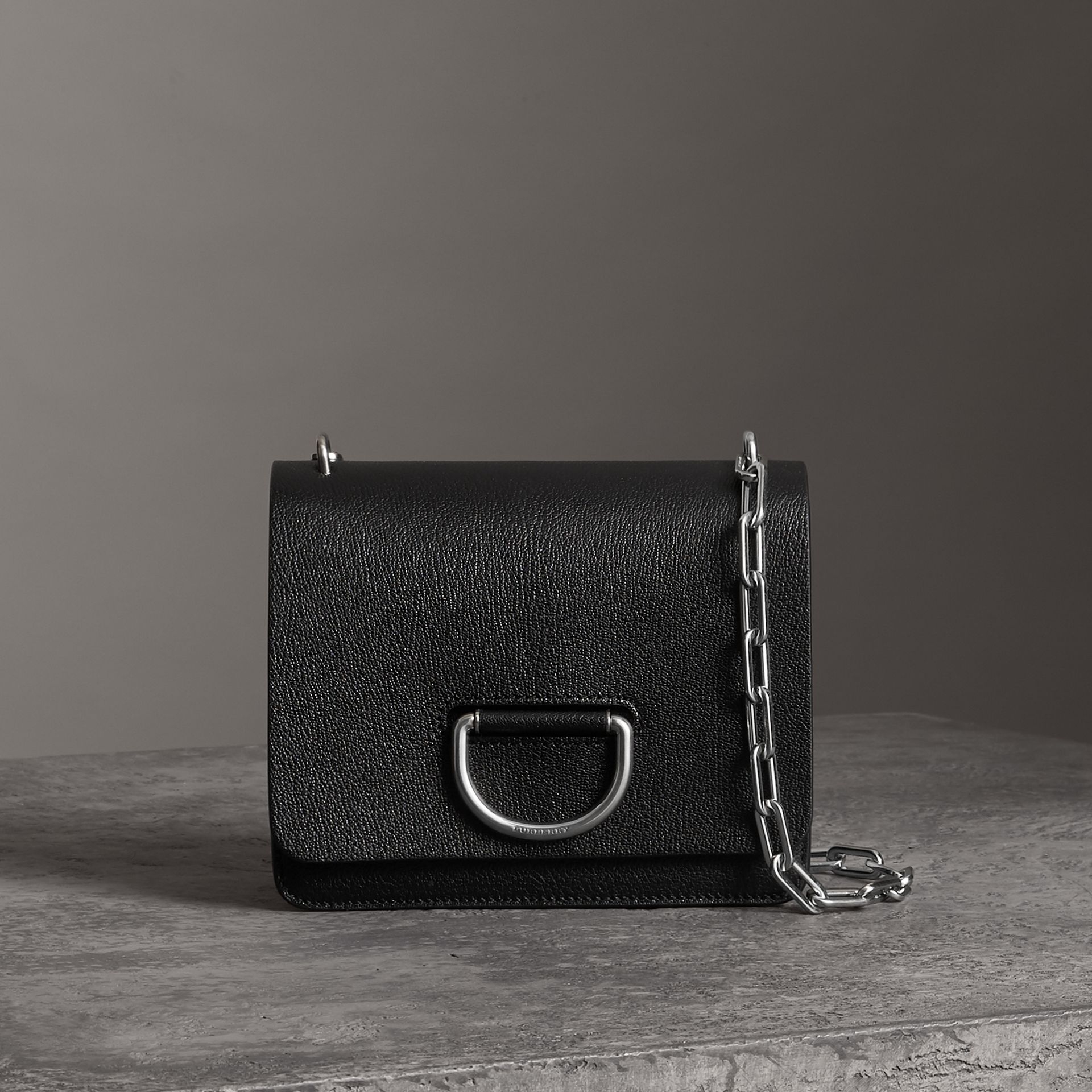 The Small Leather D-ring Bag in Black - Women | Burberry Canada - gallery image 0