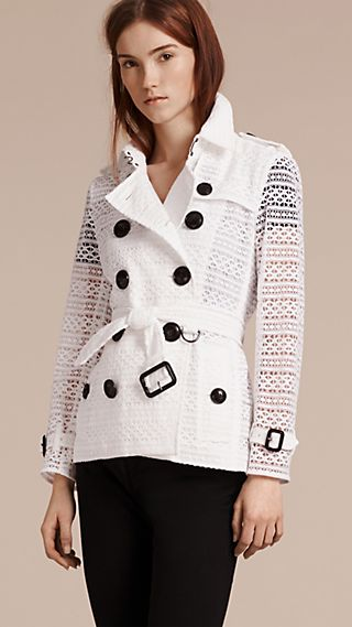 English Lace Trench Jacket