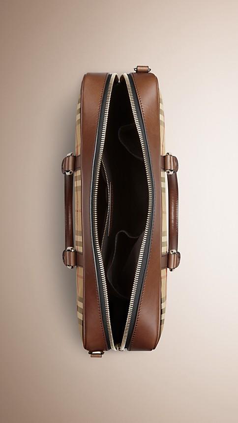 Tan Horseferry Check Crossbody Briefcase - Image 5