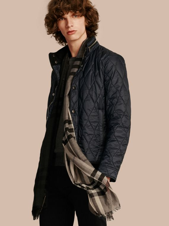 Stand Collar Military Quilted Jacket