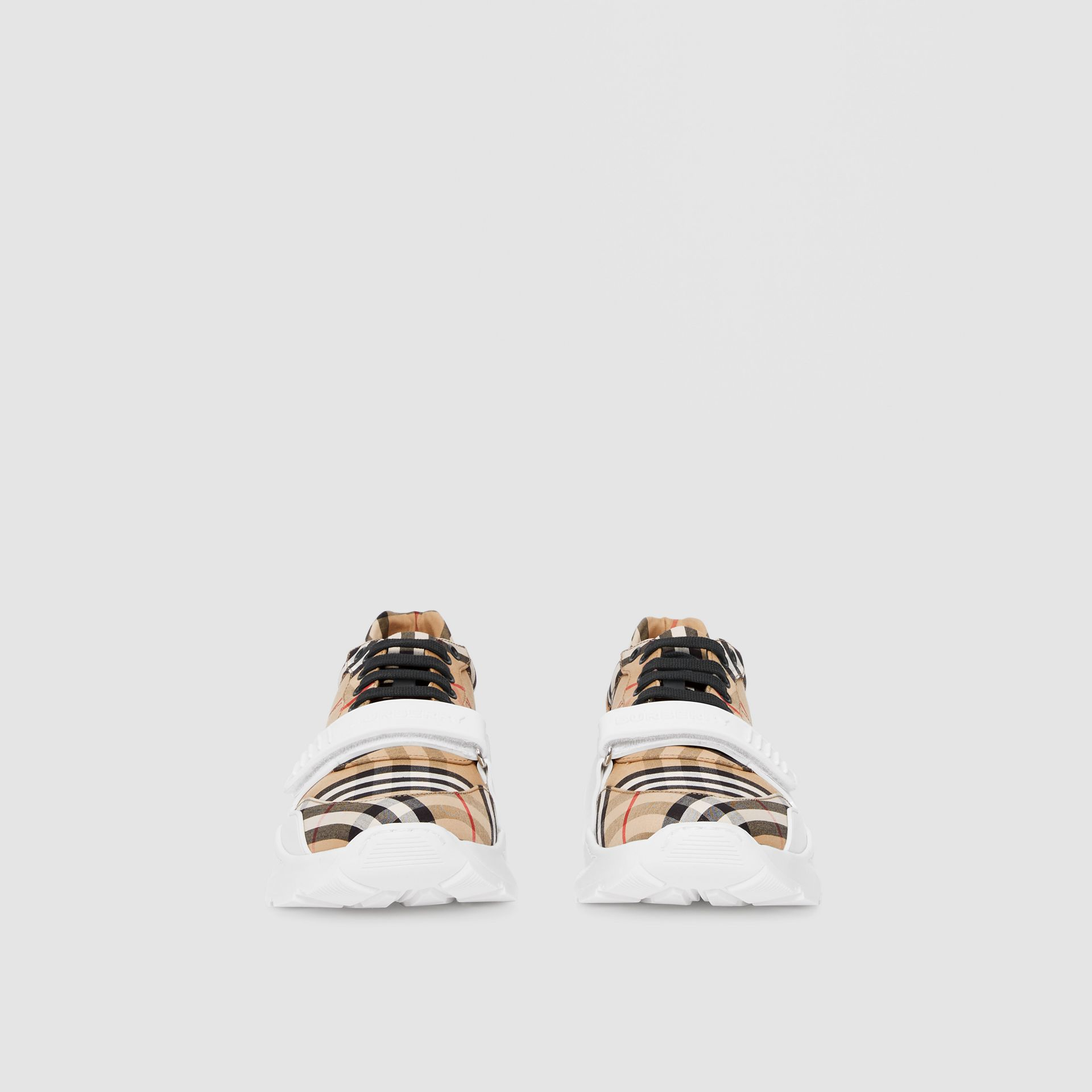 Sneakers en coton Vintage check (Beige D'archive) - Homme | Burberry - photo de la galerie 2