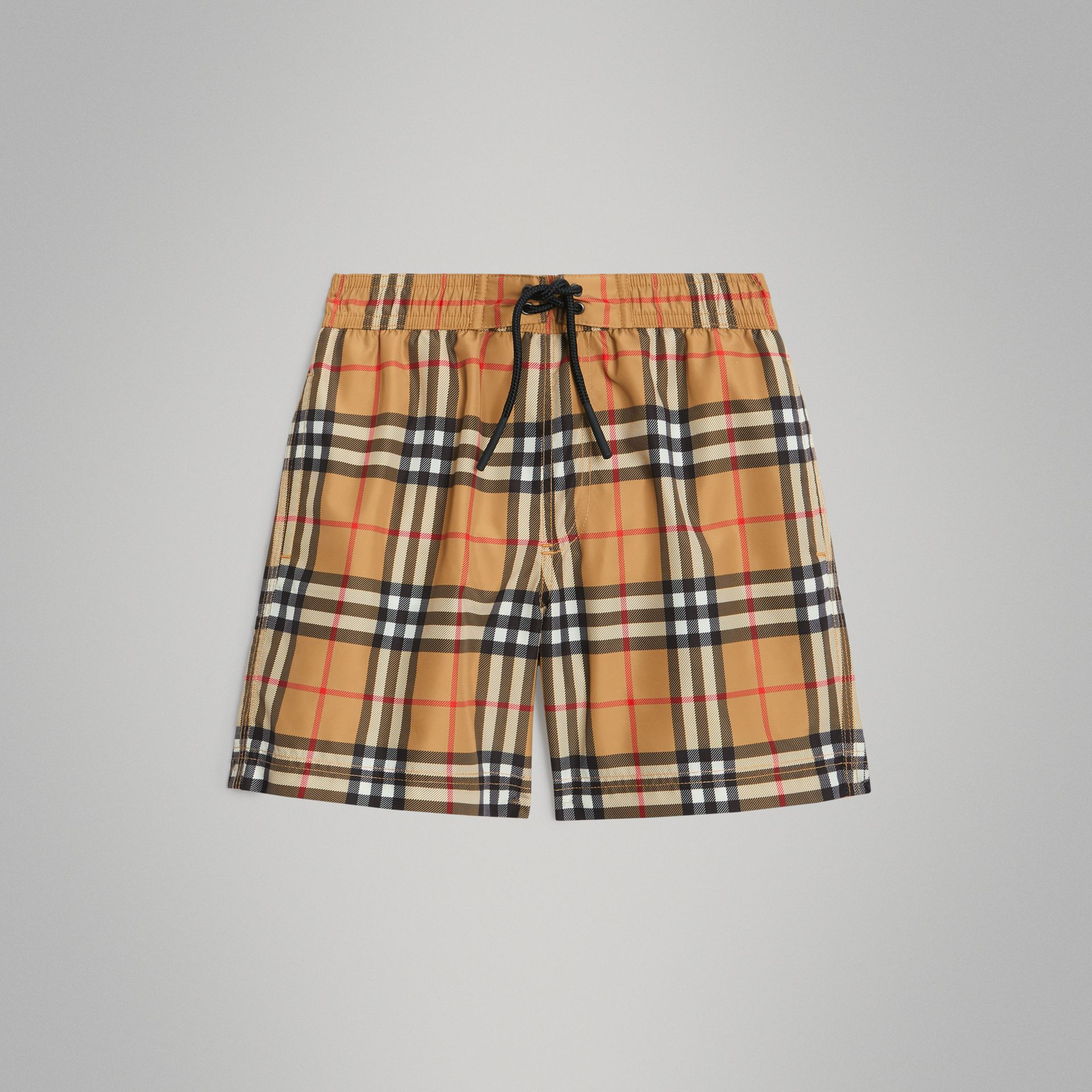 Vintage Check Swim Shorts in Antique Yellow | Burberry - gallery image 0