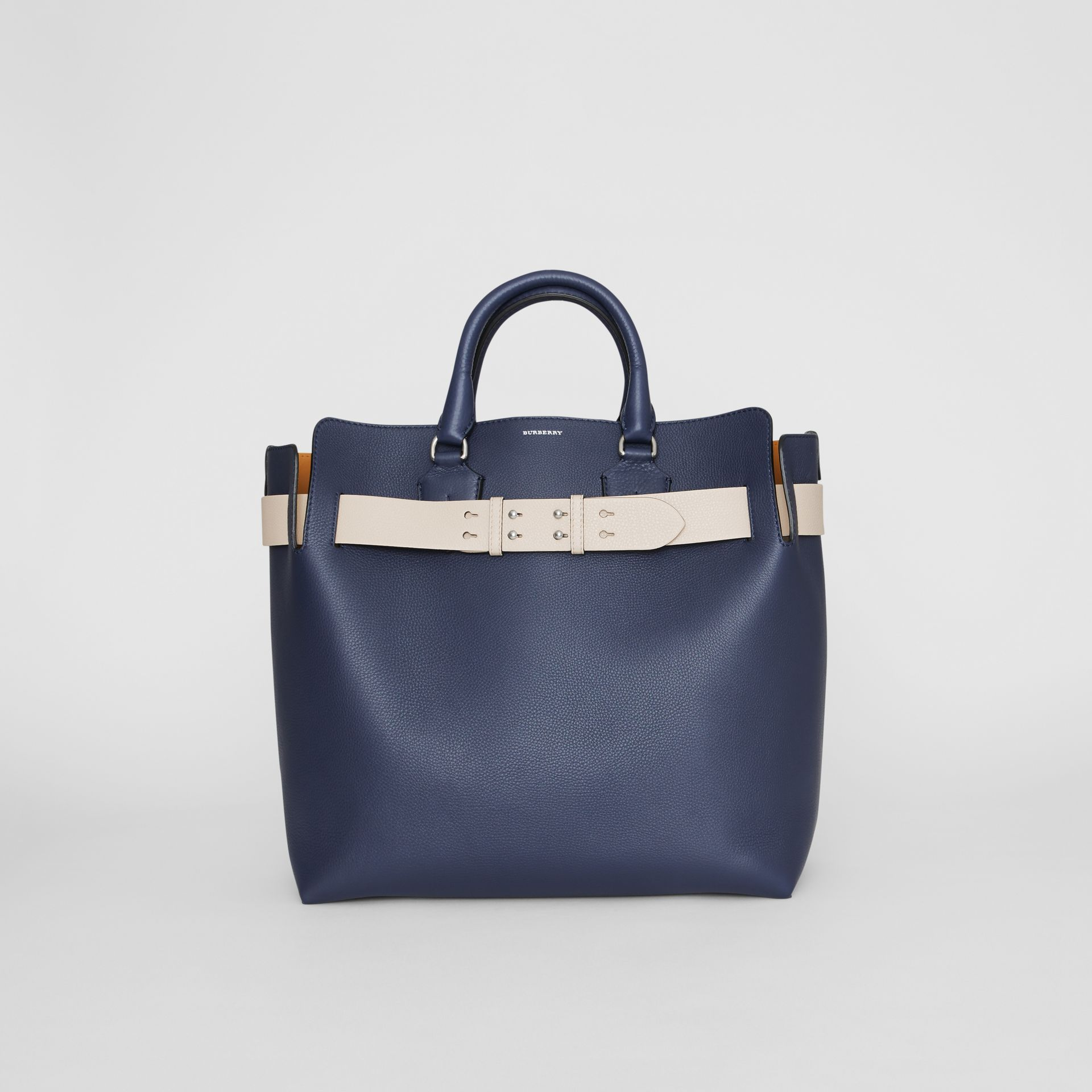 The Large Leather Belt Bag in Regency Blue - Women | Burberry Singapore - gallery image 0