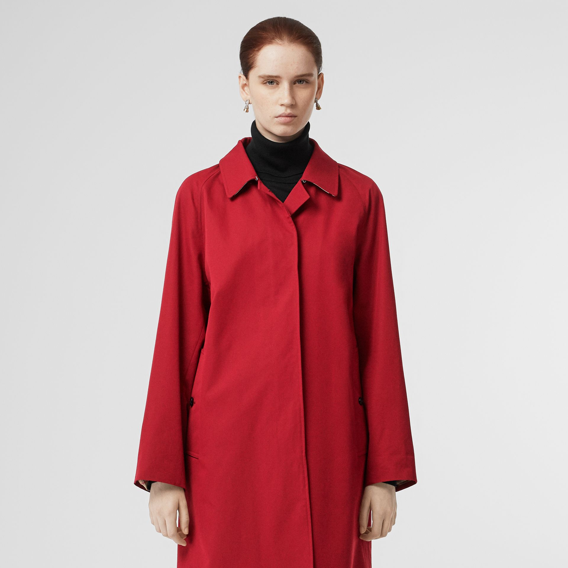 The Camden Car Coat in Parade Red - Women | Burberry - gallery image 8