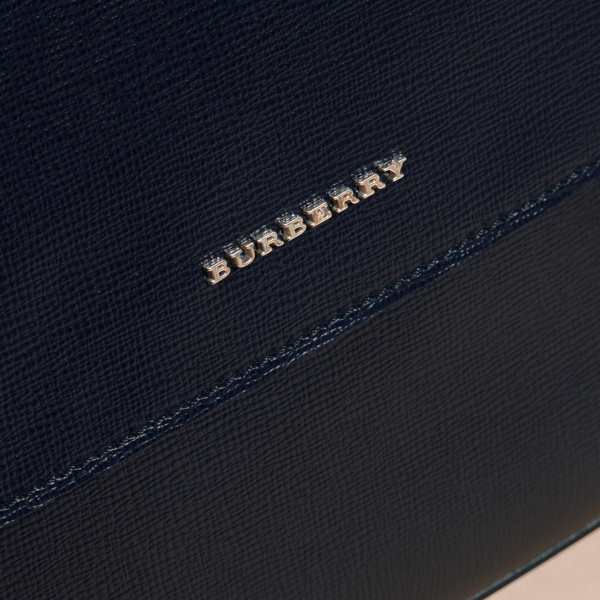 Dark navy Medium London Leather Messenger Bag Dark Navy - gallery image 2