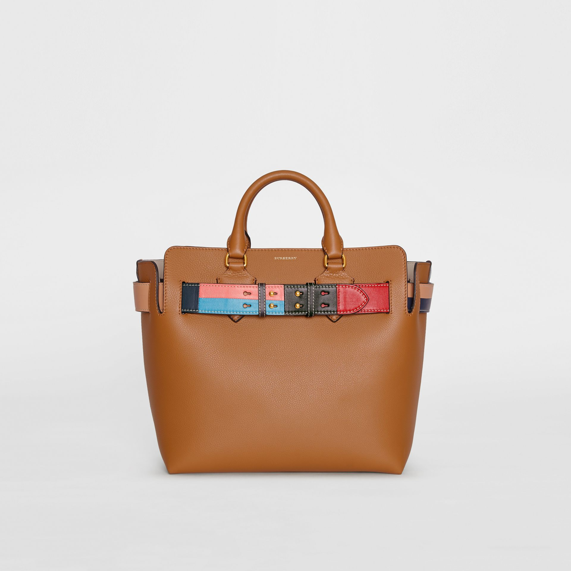 The Medium Leather Colour Block Detail Belt Bag in Cognac - Women | Burberry United States - gallery image 0