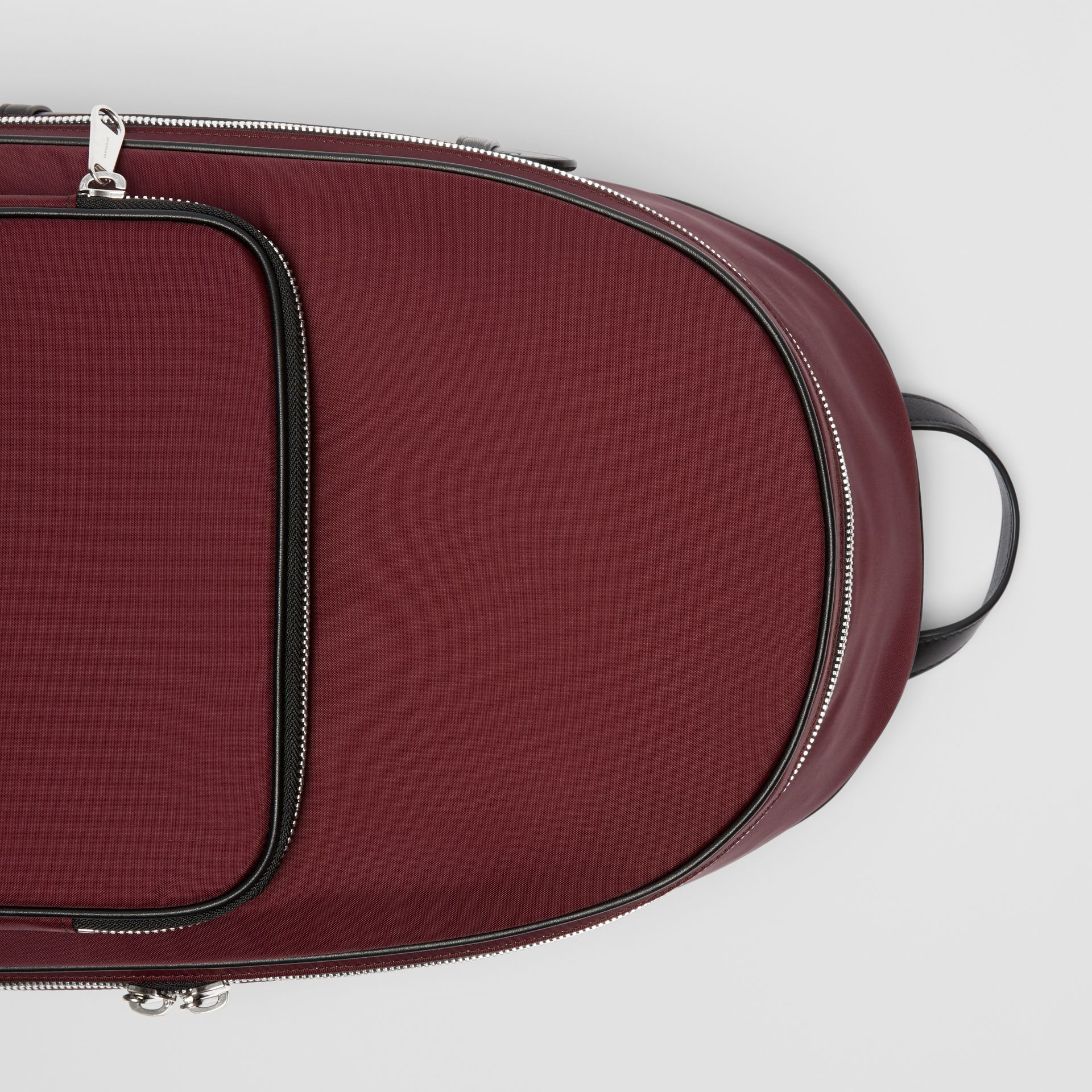 Icon Stripe Detail Nylon Backpack in Oxblood - Men | Burberry Singapore - gallery image 1