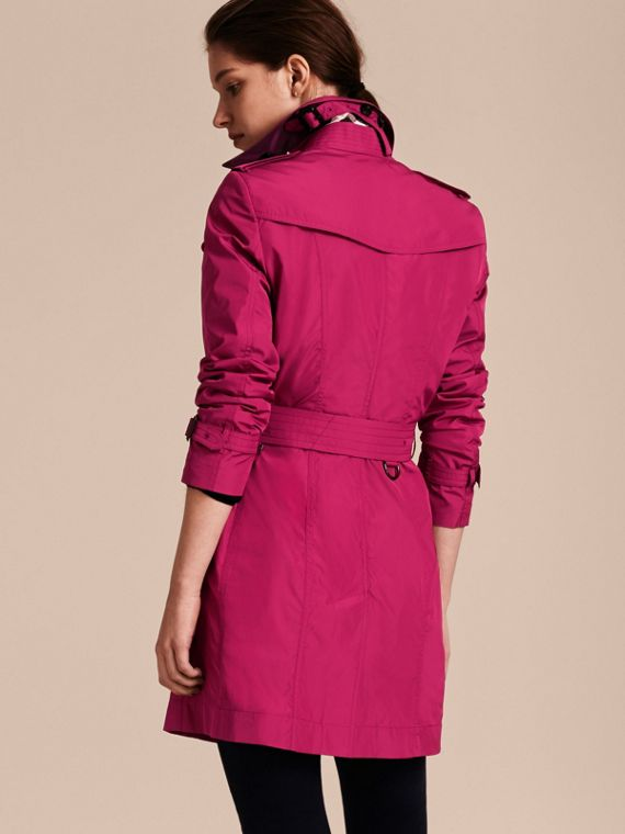 Mid-length Technical Trench Coat Damson Magenta - cell image 2