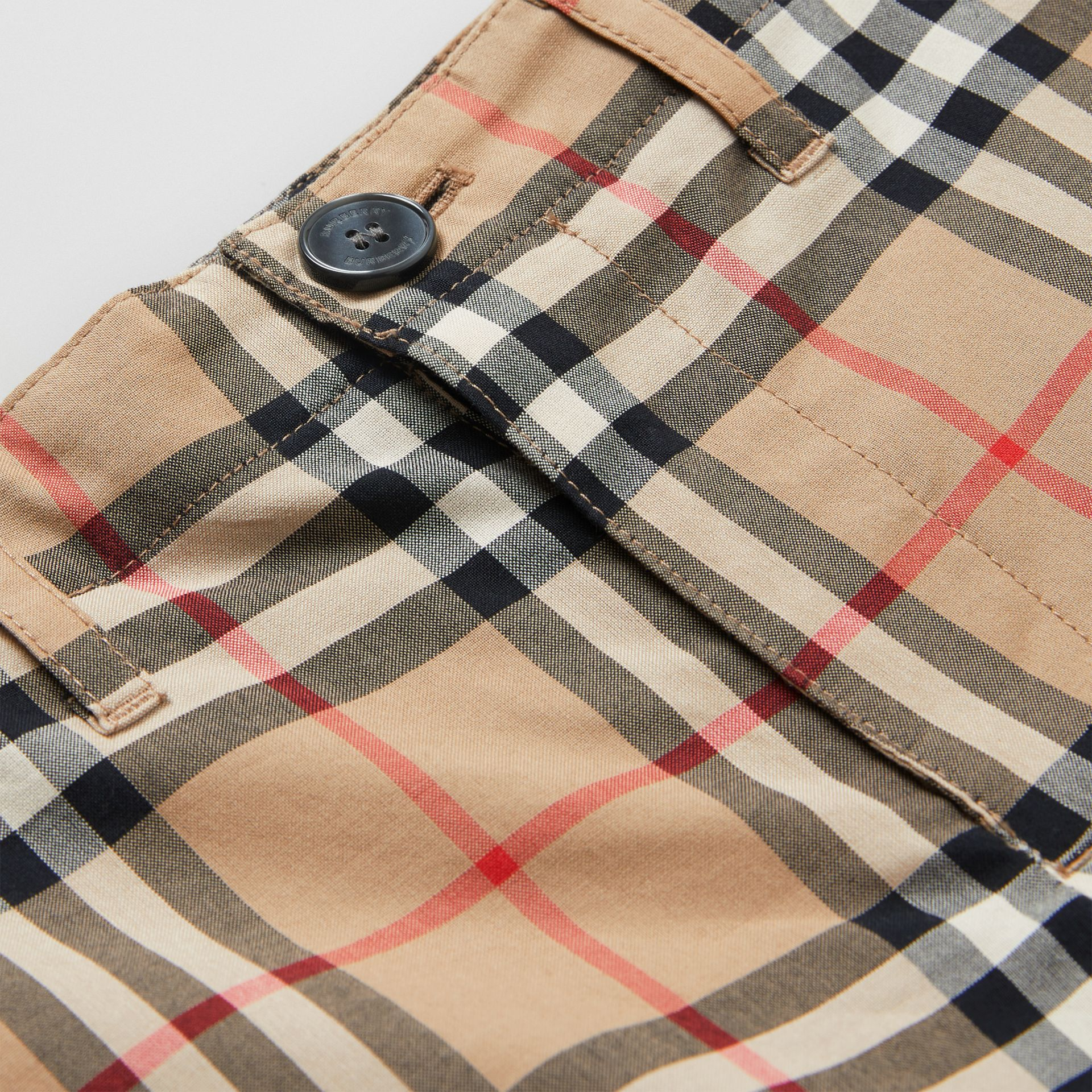Vintage Check Cotton Tailored Shorts in Archive Beige | Burberry - gallery image 1