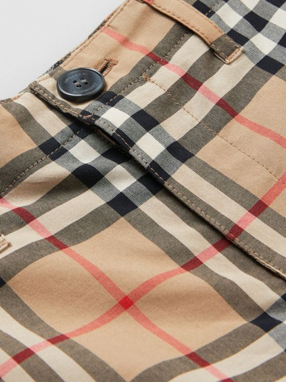 Vintage Check Cotton Tailored Shorts in Archive Beige | Burberry - cell image 1