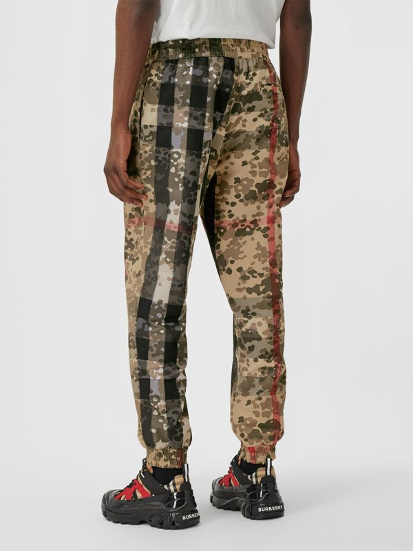 Camouflage Check Nylon Trackpants in Archive Beige | Burberry United Kingdom - cell image 2