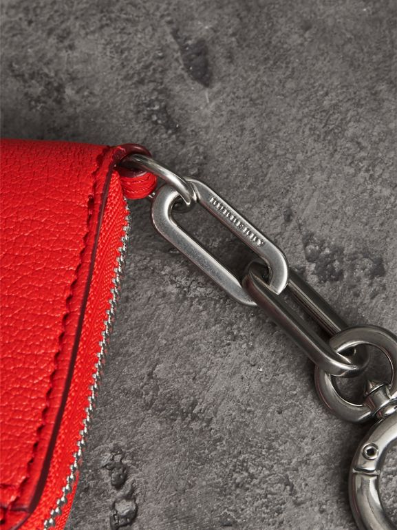 Link Detail Leather Ziparound Wallet in Bright Red | Burberry - cell image 1