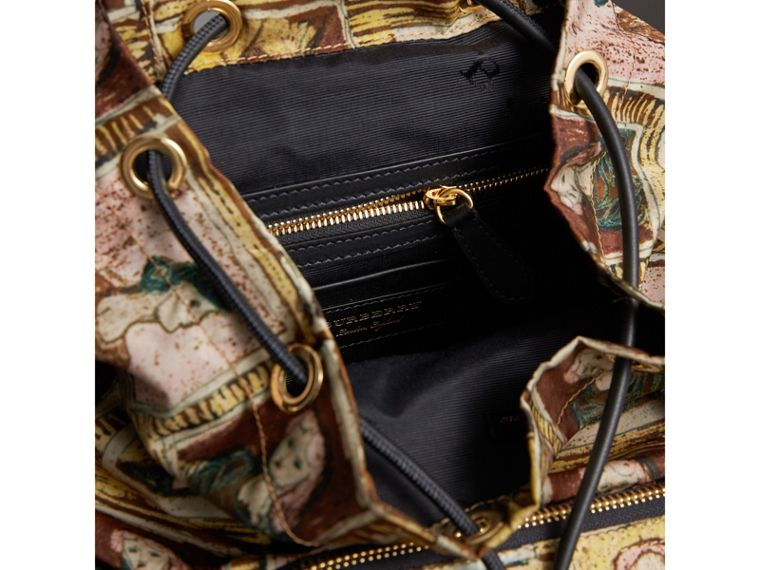 The Medium Rucksack in Framed Heads Print in Umber Brown - Women | Burberry - cell image 4