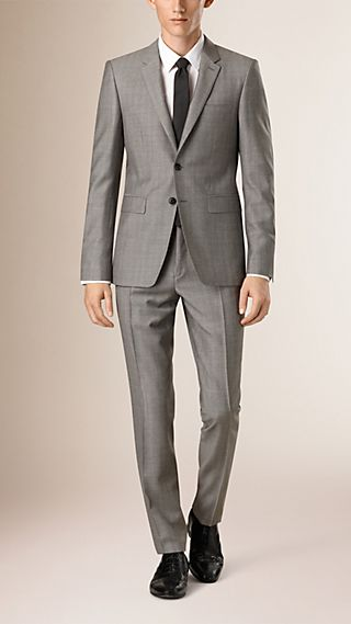 Slim Fit Subtle Check Wool Half-canvas Suit
