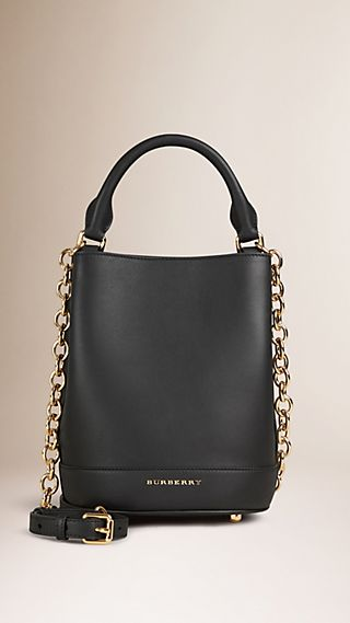 The Small Bucket Bag in Leather