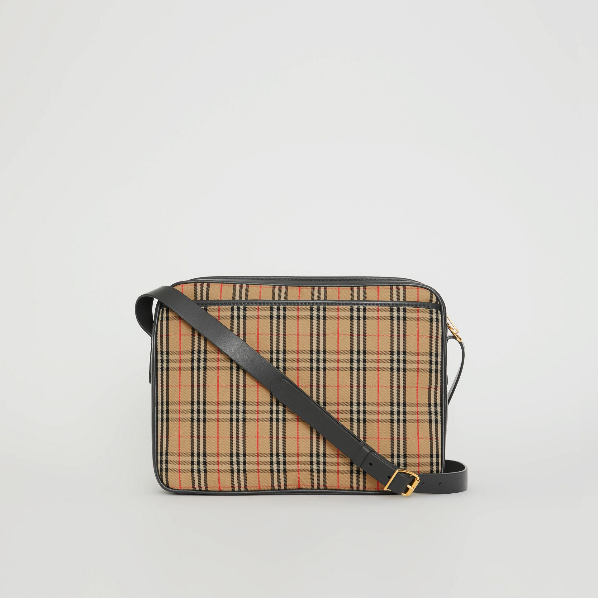 The Large 1983 Check Link Camera Bag in Black - Men | Burberry United Kingdom - gallery image 7