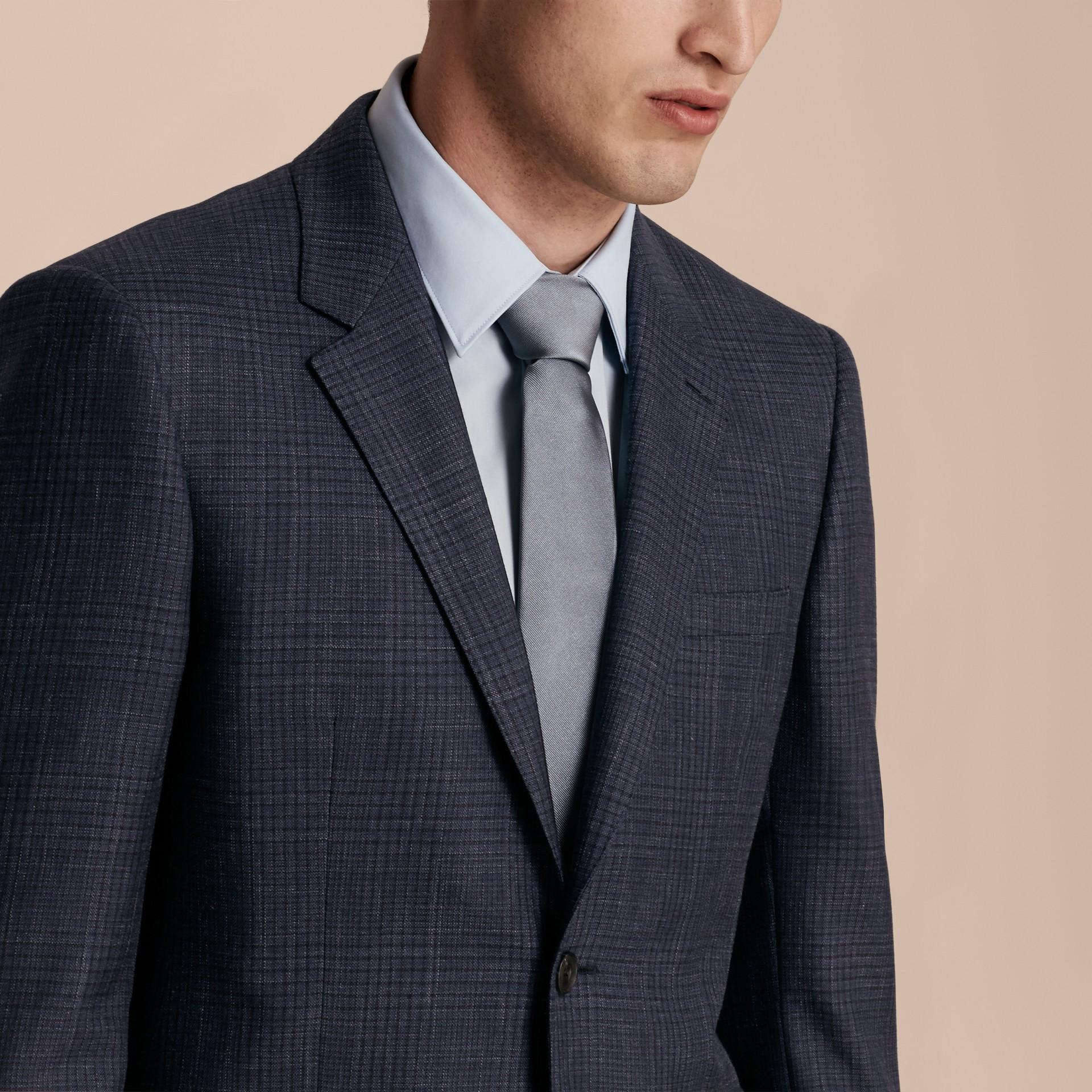 Modern Fit Wool Silk Blend Half-canvas Suit - gallery image 6