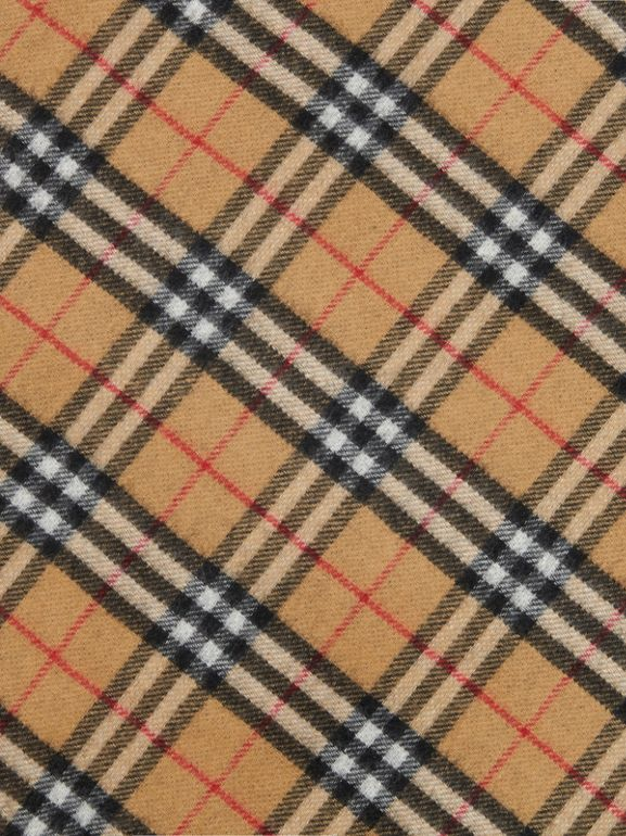 The Burberry Bandana aus Kaschmir mit Vintage Check-Muster (Carbonblau) | Burberry - cell image 1