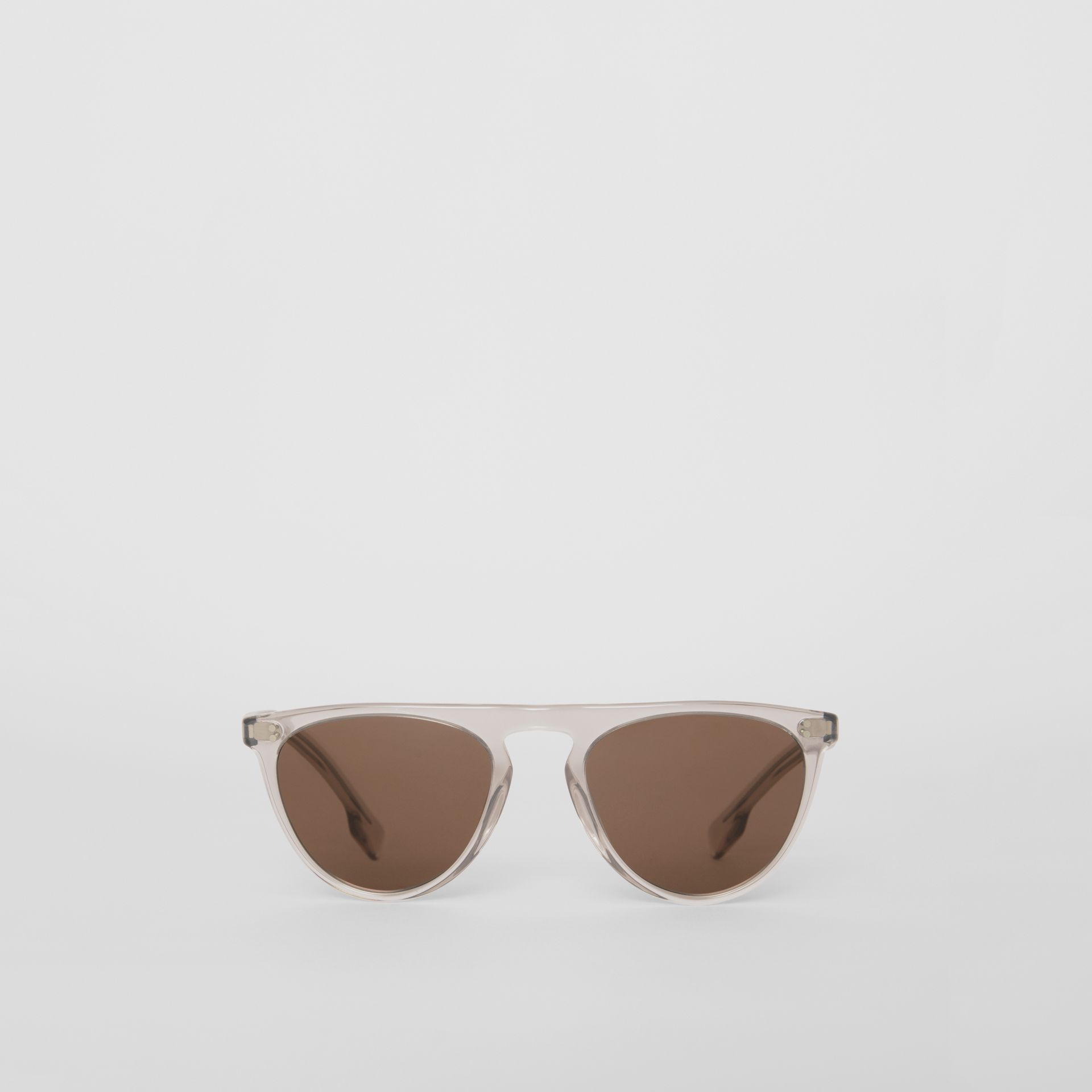 Keyhole D-shaped Sunglasses in Grey - Men | Burberry Singapore - gallery image 0