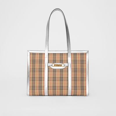 The 1983 Check Link Tote Bag in Silver