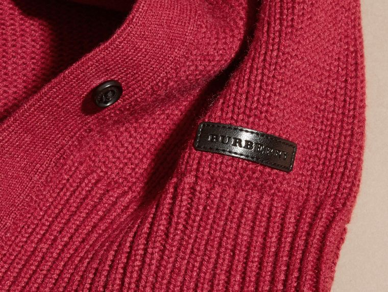 Dark plum pink Cashmere Cotton Cardigan Dark Plum Pink - cell image 1
