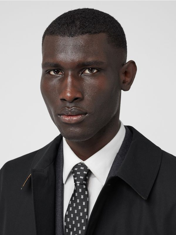 Classic Cut Monogram Motif Silk Jacquard Tie in Black - Men | Burberry - cell image 2