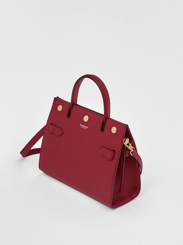 Mini Leather Title Bag in Dark Crimson - Women | Burberry United Kingdom - cell image 3