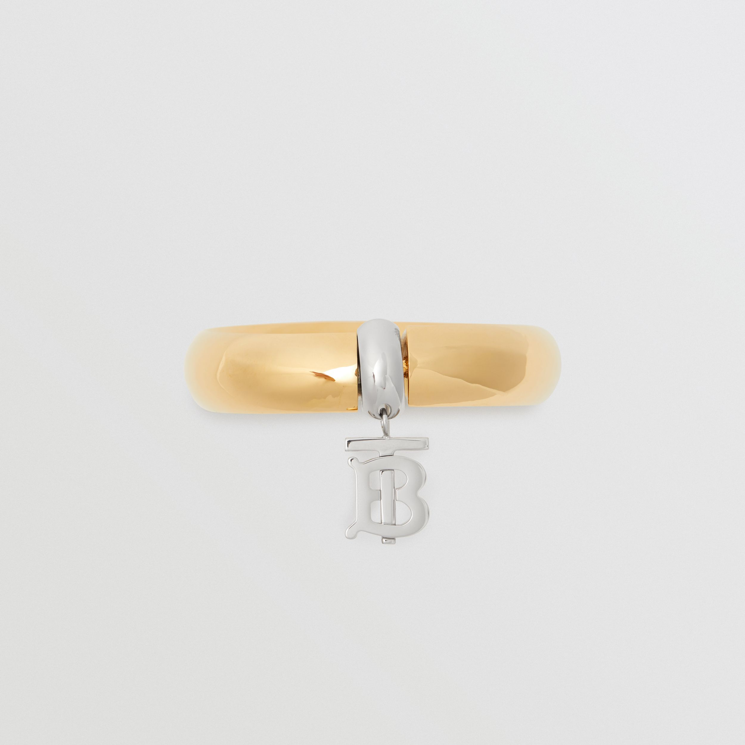 Gold-plated Monogram Motif Bangle in Light - Women | Burberry - 3