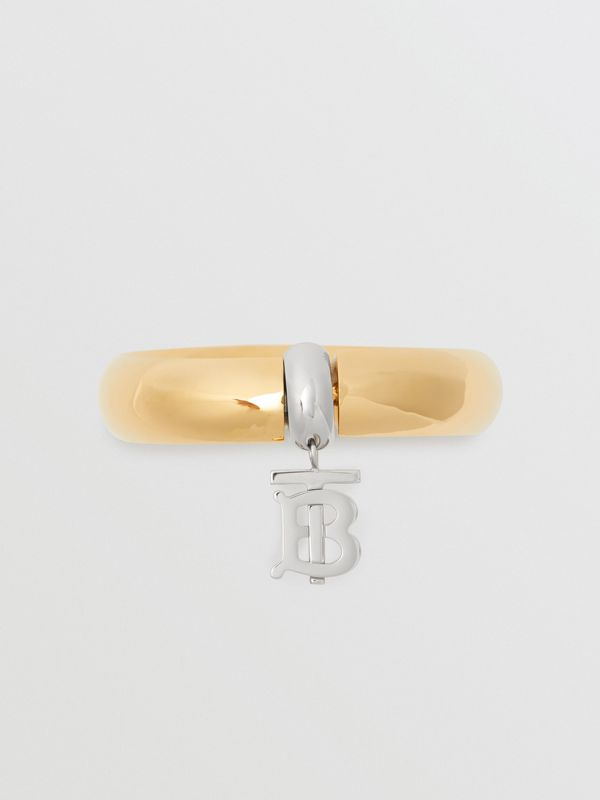 Gold-plated Monogram Motif Bangle in Light - Women | Burberry - cell image 2
