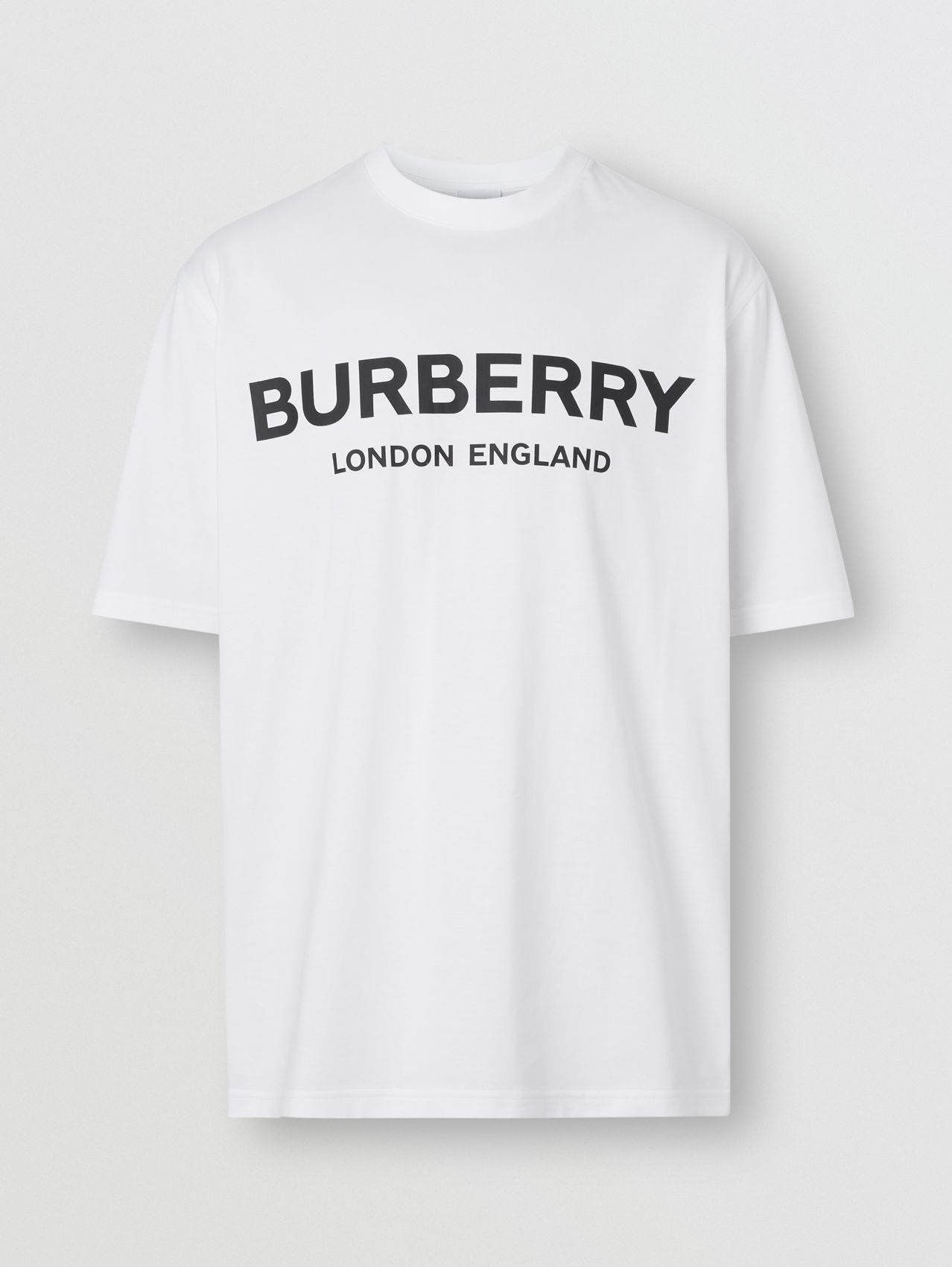 Футболка с логотипом Burberry in Белый