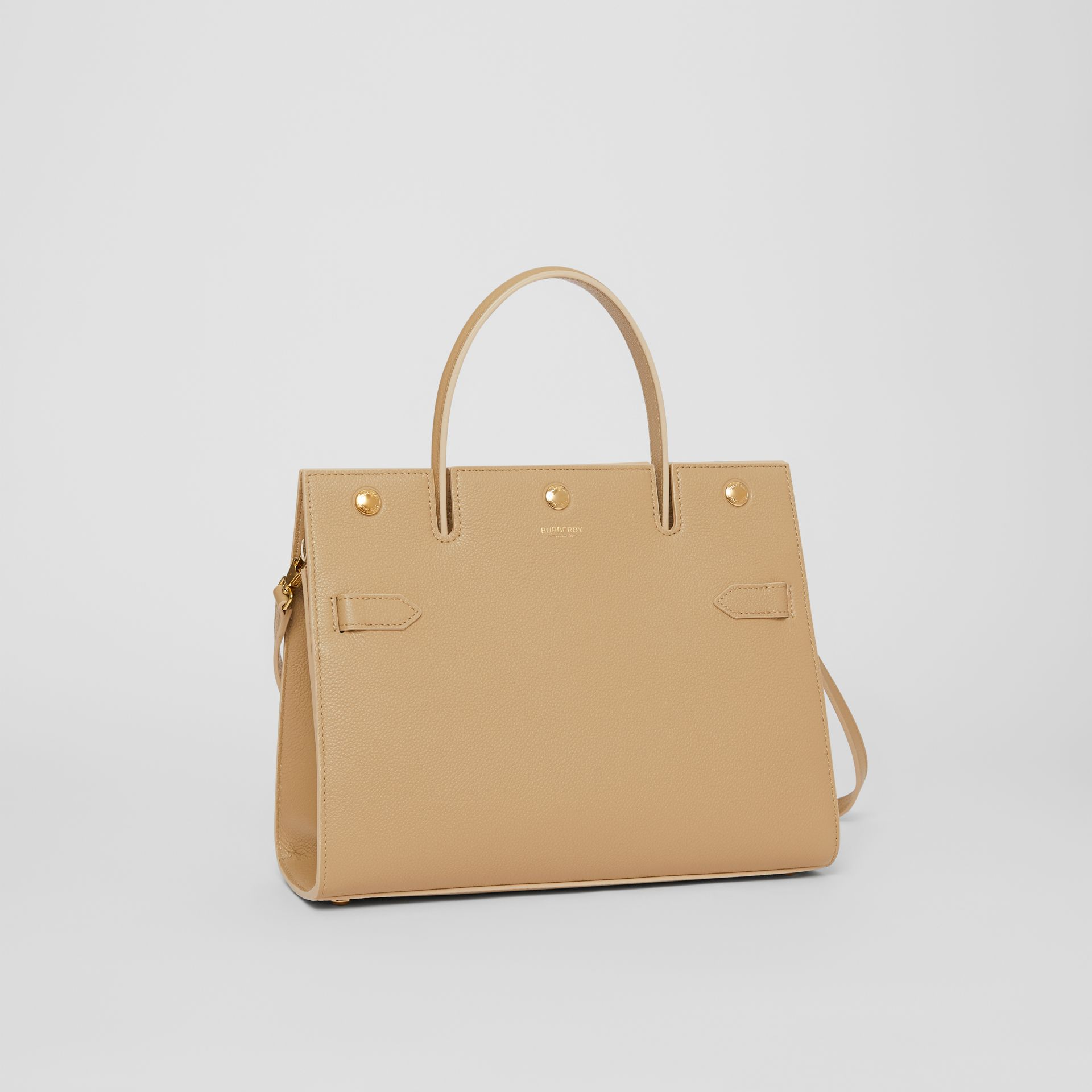 Small Leather Title Bag in Honey - Women | Burberry Australia - gallery image 6