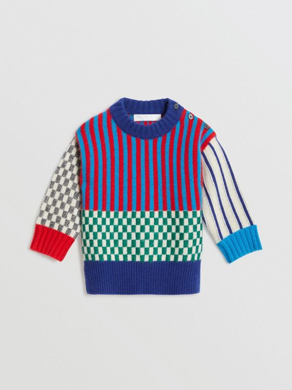 Graphic Cashmere Jacquard Sweater in Multicolour